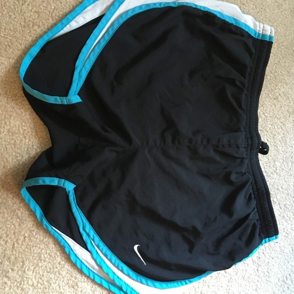 Nike Pants - Nike black shorts with blue trim